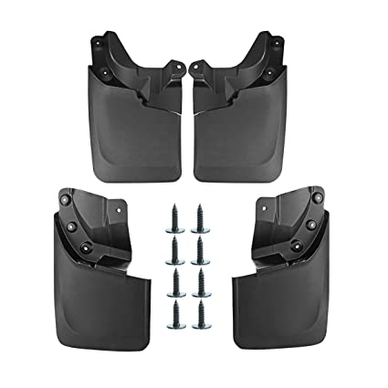 with OEM Fender Flares Front and Rear 4-PC Set A-Premium Mud Flaps Splash Guards for Toyota Tacoma 2016-2019 Molded Except SR Models