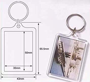 Amazon.com   50 Pcs of Blank Clear Acrylic Keyring 35x50mm Photo Insert  Craft Keychain 92033   Paper Punches   Office Products 28ed4a4a41