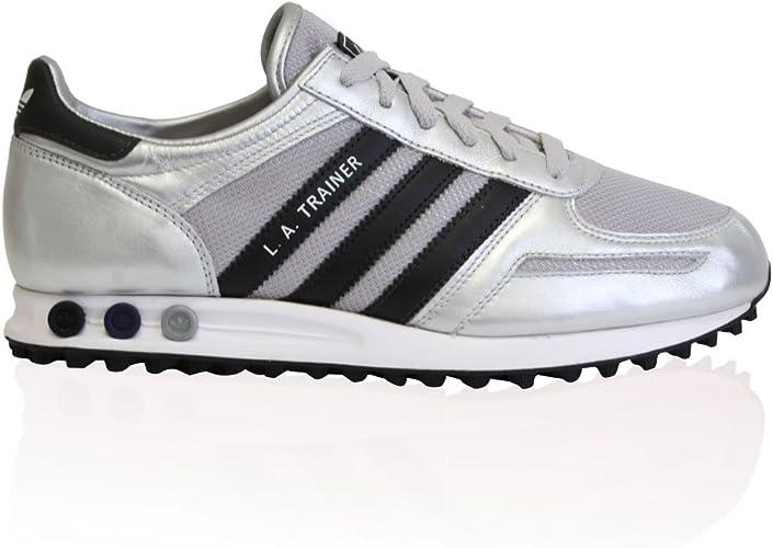 Mens Adidas Originals La Trainer Silver