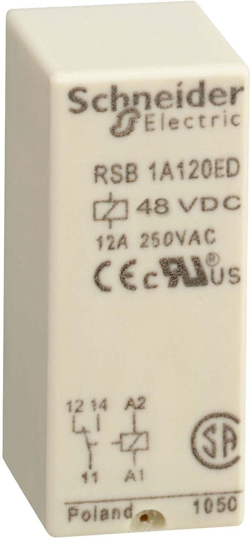 12 A Schneider RSB1A120ED Interface-Relais RSB 48 VDC 1 W