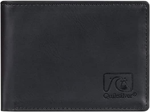 Quiksilver Slim Vintageiv M-Wallets For Men, Travel Accessory - Cartera bi-Fold para Hombre