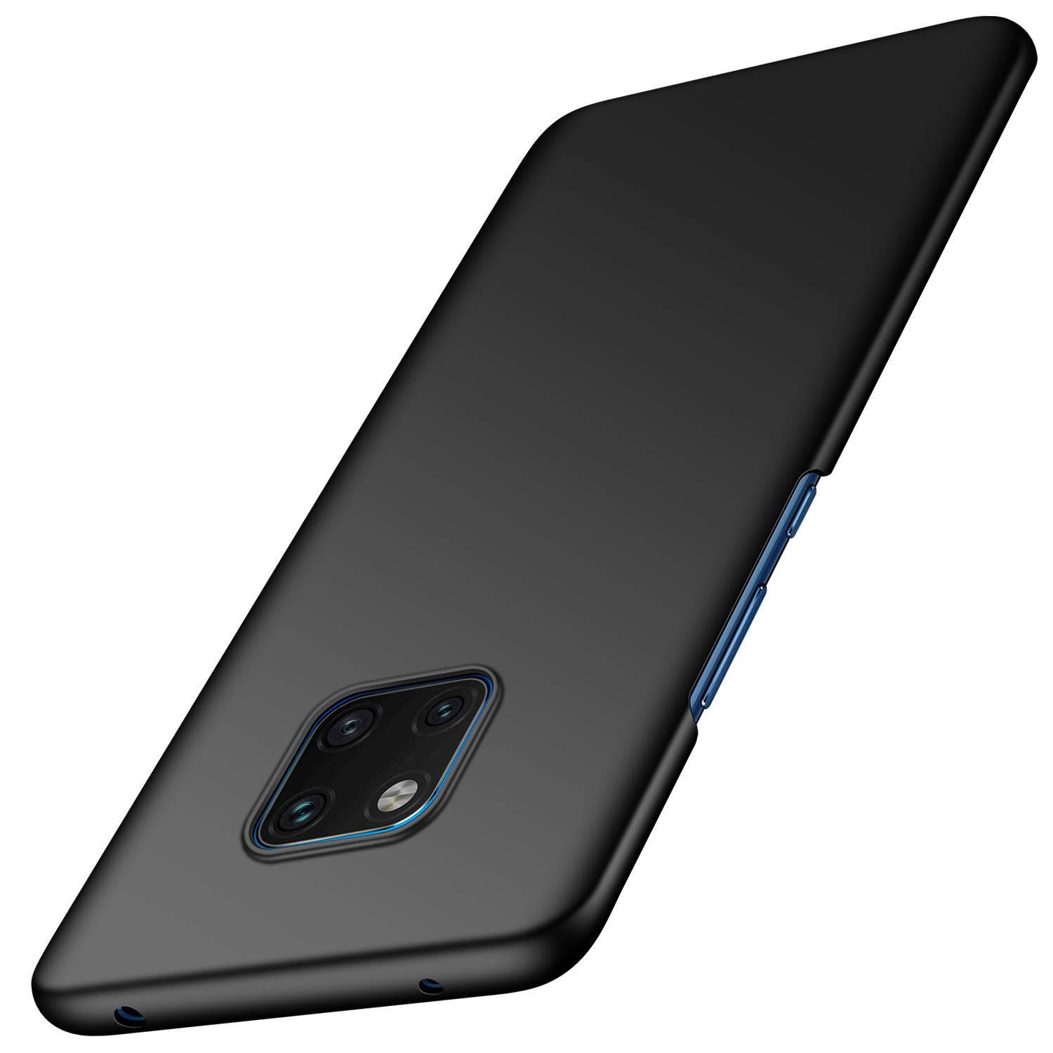 Huawei Mate 20 Pro Case, Arkour Minimalist Ultra Thin Slim Fit Cover with Smooth Matte Surface Hard Case for Huawei Mate 20 Pro (Smooth Black)