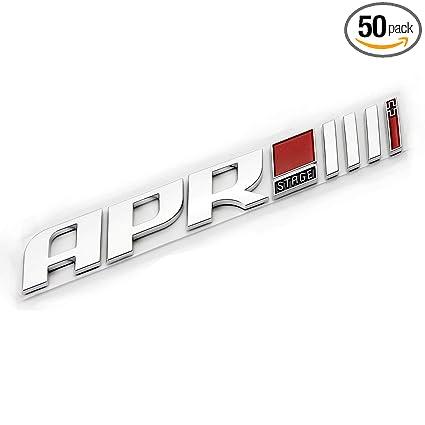 Amazon.com: 3D Auto car ABS plastic APR Stage III+ Emblem Badge Sticker Deca for TT RS S3 S4 A6 A8 Q3 Golf CC A5: Automotive