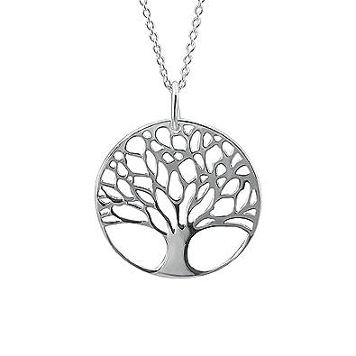 Kiara Schmuck 925 Sterling Silber Baum des Lebens Anhänger Halskette ...