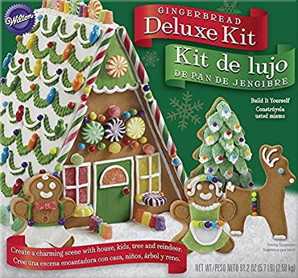 Christmas Gingerbread House Decorations.Wilton Build It Yourself Deluxe Gingerbread House Decorating Kit