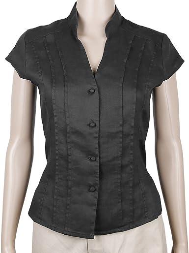 Sinologie - Camisas - Cuello Mao - para Mujer: Amazon.es: Ropa y accesorios