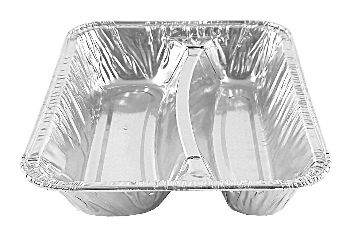 Handi-Foil Hot Dog Container Tray School Senior Feeding Disposable Pan -(pack of 25)
