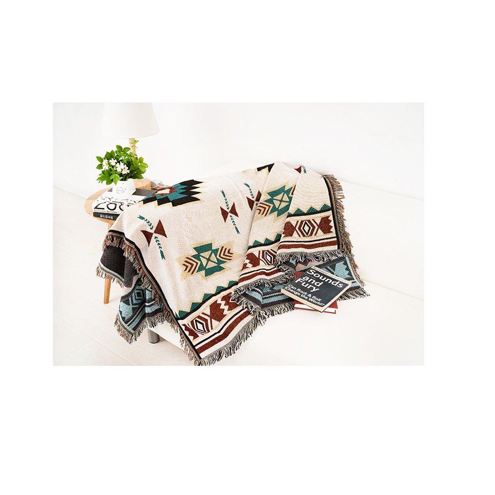 Peel Forest Aztec Boemia 90x 180cm divano geometrico desgin tribale etnico tappeto coperta copriletto tappeto americano indiano in cotone