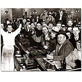 The Night Prohibition Ended – 11×14 Unframed Art Print – Makes a Great Man Cave and Bar Decor Under $15