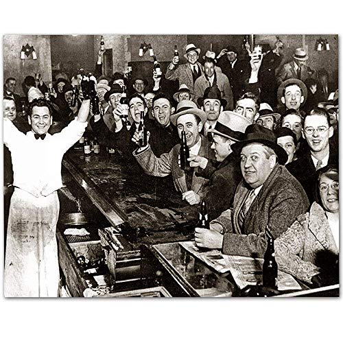 The Night Prohibition Ended - 11x14 Unframed Art Print - Makes a Great Man Cave and Bar Decor Under $15 from Personalized Signs by Lone Star Art