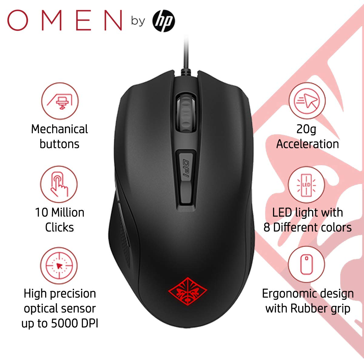 Amazon in: Buy HP OMEN 400 Gaming Mouse with 6 Customizable
