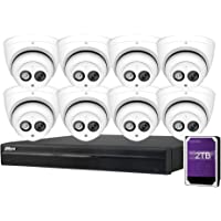 Dahua 8CH 6MP PoE Home Security Camera System, 8pcs 6MP Outdoor PoE IP Cameras with Build in MIC, 4K 8-Channel NVR…