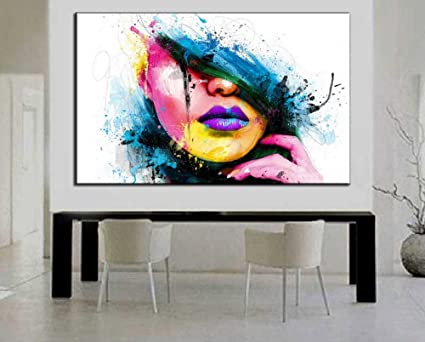Amazon.com: Osm Art 100% Hand-painted Wall Art for Large Painting ...