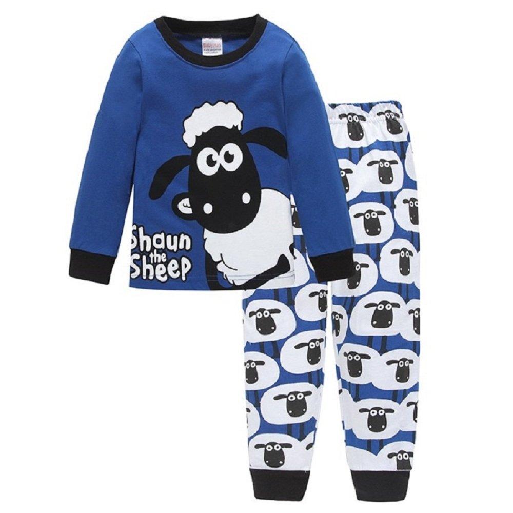 Hooyi Baby Boy Sleepwear Cotton Children Casual Shaun The Sheep Pajamas Set Pajamas20170922001