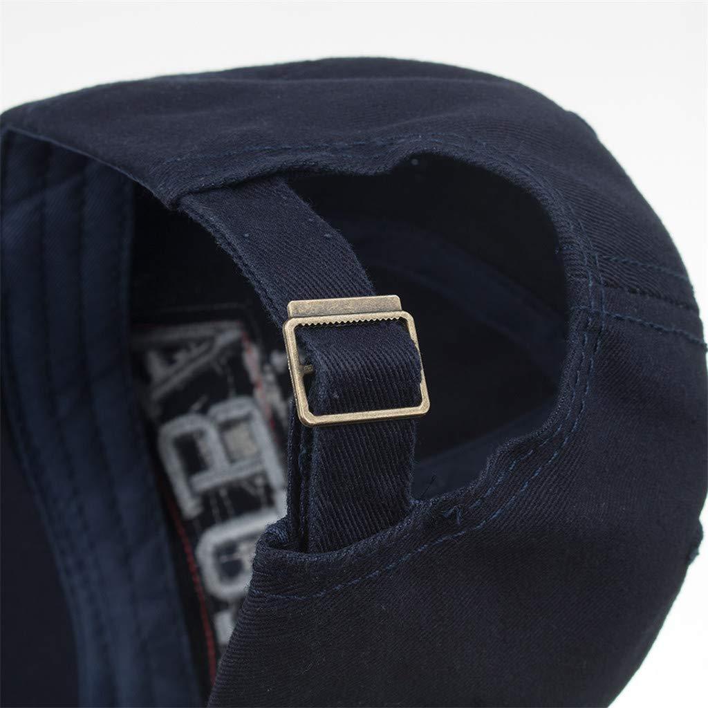 LOPILY Gorras de béisbol para Mujer Mans de algodón Bordado de ...