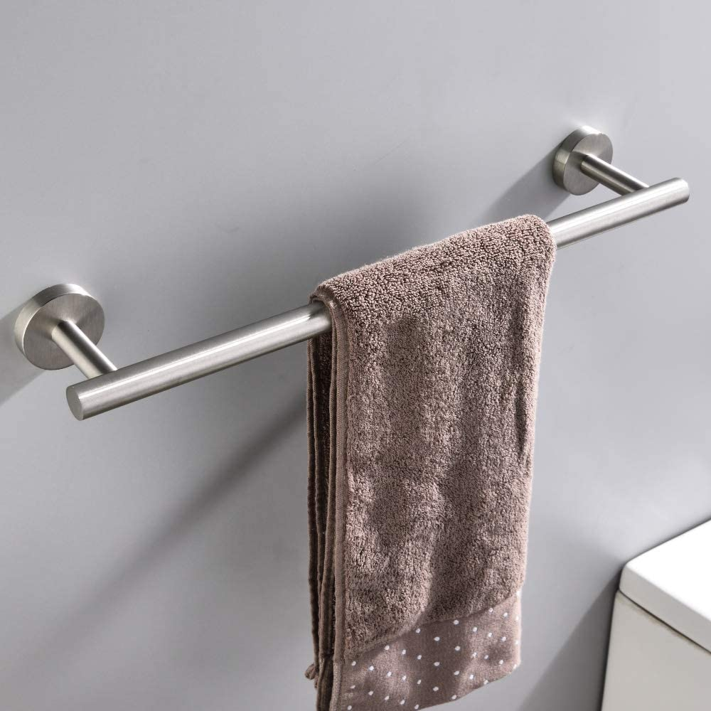 Towel Bars Bath Accessories Thicken Stainless Steel Shower Towel Rack For Bathroom Nearmoon Bathroom Towel Bar Brushed Nickel 12 Inch Towel Holder Wall Mounted Tools Home Improvement Belasidevelopers Co Ke