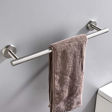 towel bar bathroom chrome mellewell 16 inch towel bar bathroom rack wall mounted stainless steel brushed nickel 06003tb16 amazoncom mounted