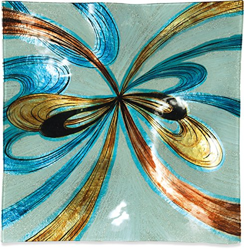 Swirl Square Accent Plate - Angelstar 19092 Infinite Swirls Plate, 12-Inch