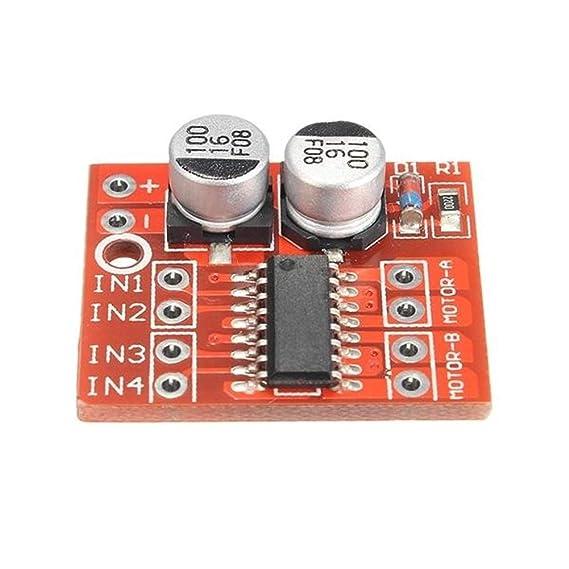 3pcs Dual Channel L298N DC Motor Driver Board PWM Speed Dual H Bridge Stepper Module Los m/ódulos de Memoria Jasmin FS Accesorios para el Ordenador
