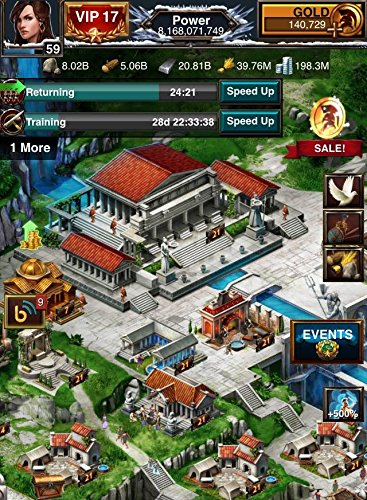 Game of War - Fire Age 8 Billion Account VIP 17 Hero Level 59 PRICE NEGOTIABLE (Mz Game Of War)