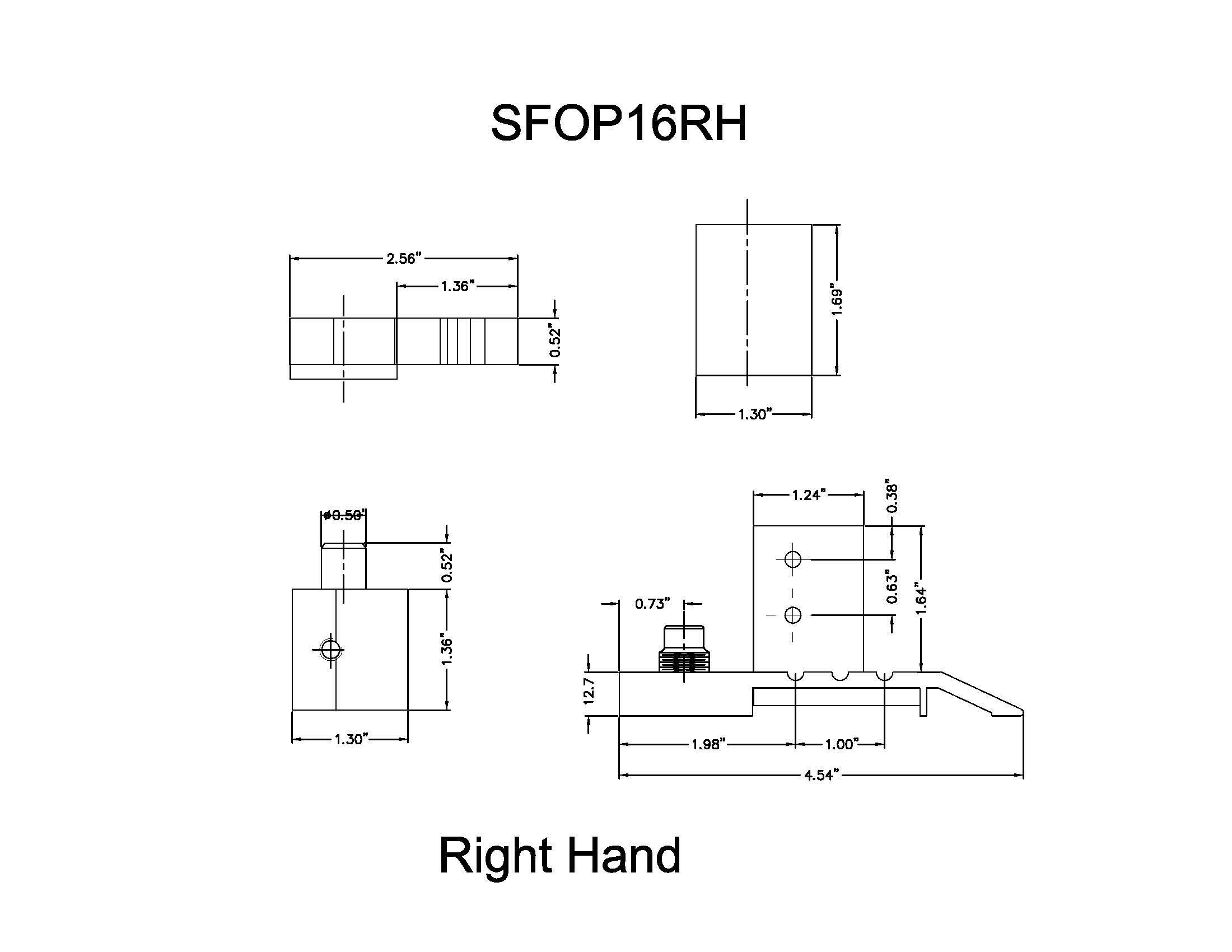 Offset Pivot Right Hand in Aluminum Finish, Durable commercial & residential, door hardware, door handles, locks