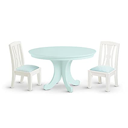 Amazoncom American Girl Dining Table Chairs Set For Dolls My Ag