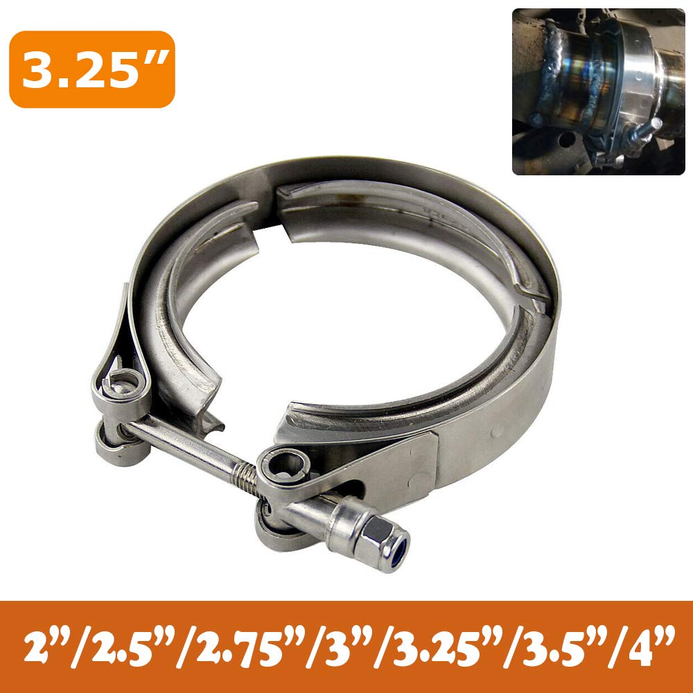 Downpipes Exhaust Systems 2.0//2.5//2.75//3.0//3.25//3.5//4.0 PTNHZ Universal Stainless Steel 3.0 V Band Clamp with CNC Stainless Steel Male Female Flanges For Turbo