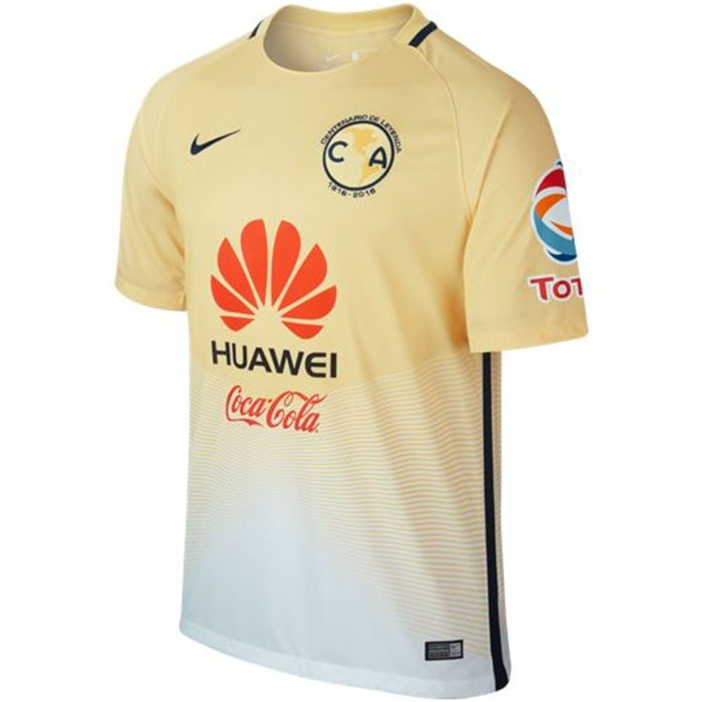 Nike Mens Club America 16/17 Home Lemon Chiffon/White/Armory Navy