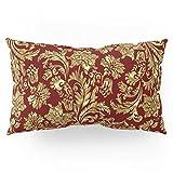 Society6 Red & Gold Floral Damasks Pattern Pillow Sham King (20'' x 36'') Set of 2