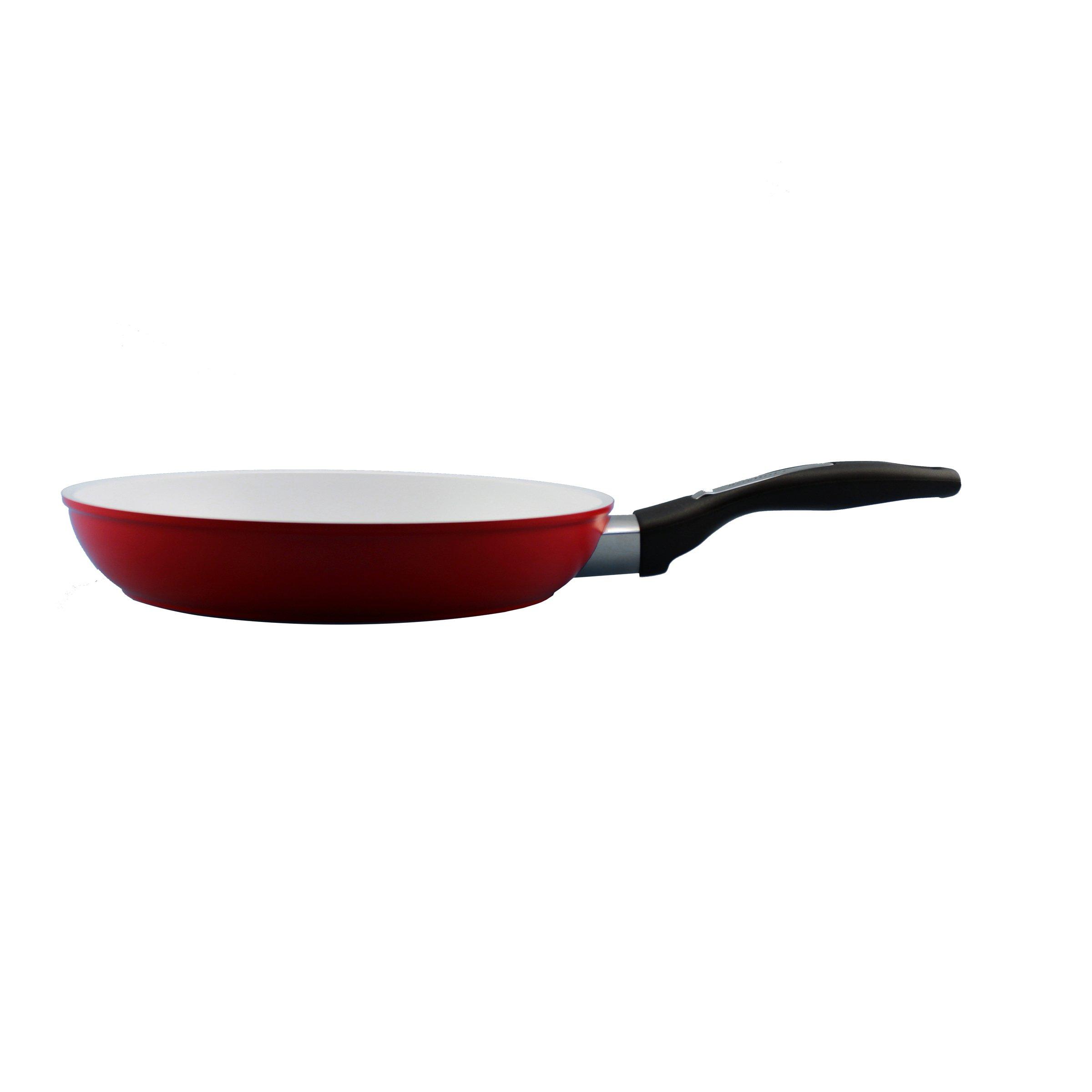 BergHOFF Fry Pan ceramic Non-Stick 11'' Red, Large