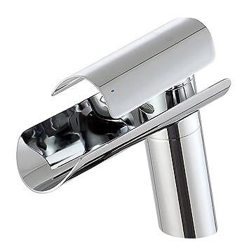 MICOE Waschtischarmatur Wasserfall Badarmaturen Edelstahl Moderner ...