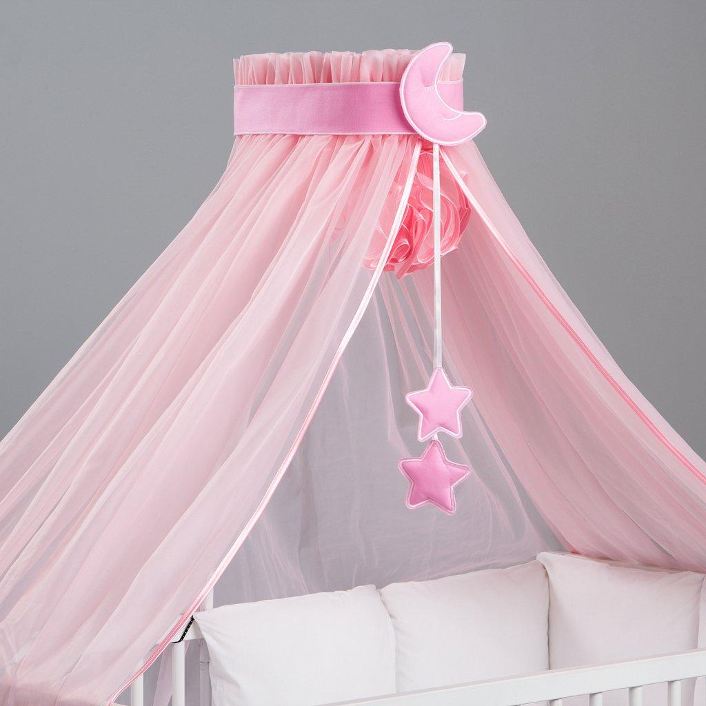 3-teilig: Betthimmel / Moskitonetz Baby, bunte Dekoration und Himmelhalter entworfen von Dreamzzz Fastina