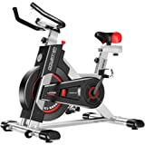 Exercise Bike Spin Flywheel Training Cardio Fitness Equipment Home Gym Silver