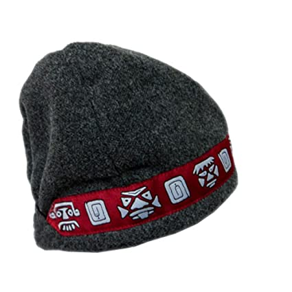 7b84f1aaee0 Amazon.com  Shred Alert Gear Gray with Red Aztec Faces One Size Knit ...