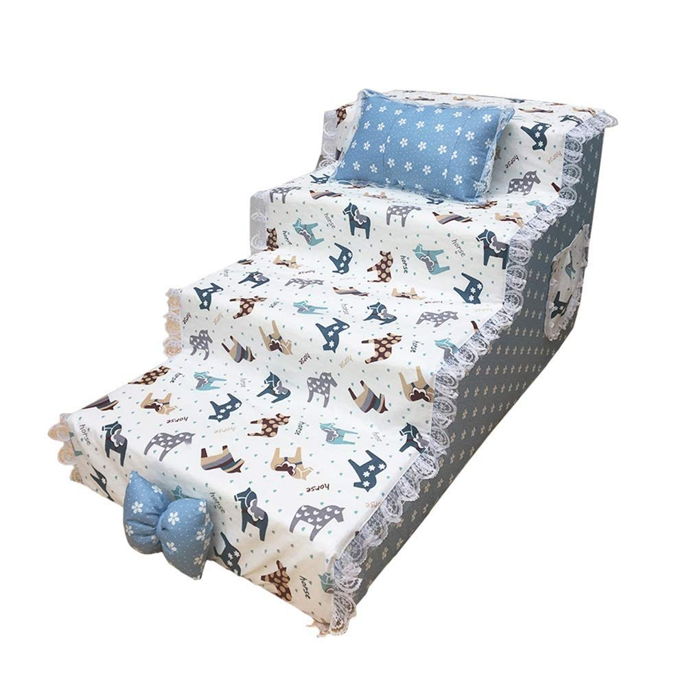 804040cm Wood 4-step Dog Stair, Living Room And Bedroom Waterproof Pet Stairway (color   80  40  40cm)