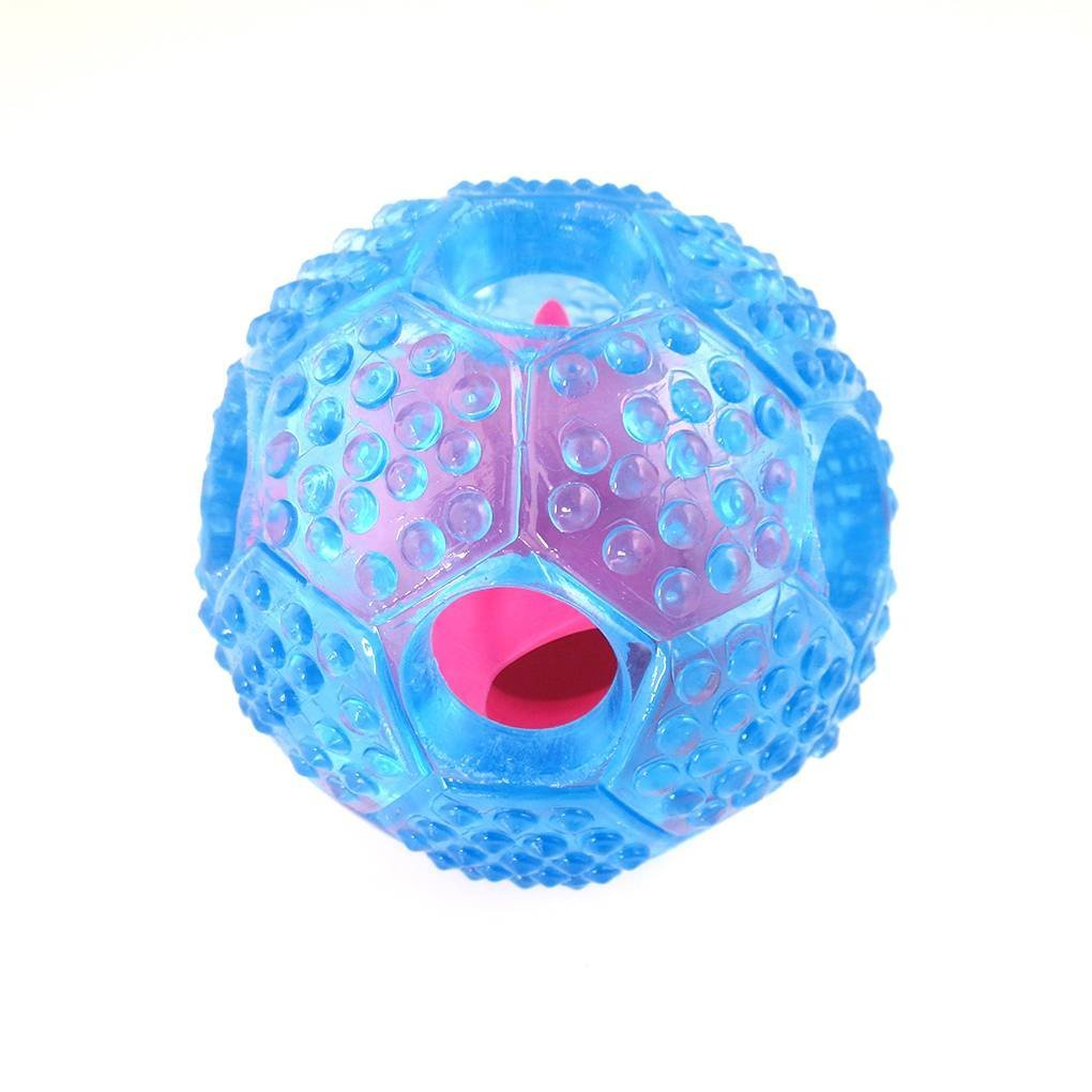 Chilie Hollow Football Soft TPR Dog Leaking Food Ball Teeth Chewing Bitting IQ Training Interactive Pet Toys