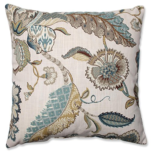 """16.5"""" Blue Finders Keepers Floral Decorative Throw Pillow"""