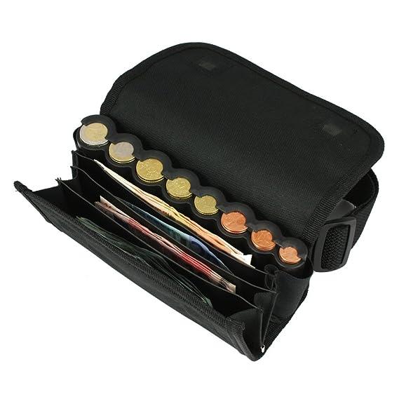 HMF 48810-02 Bolso de camarero, monedero de camarero, incl. cambiador de monedas para euros y cinturón de transporte de 20,5 cm x 6,5 cm x 10 cm en ...