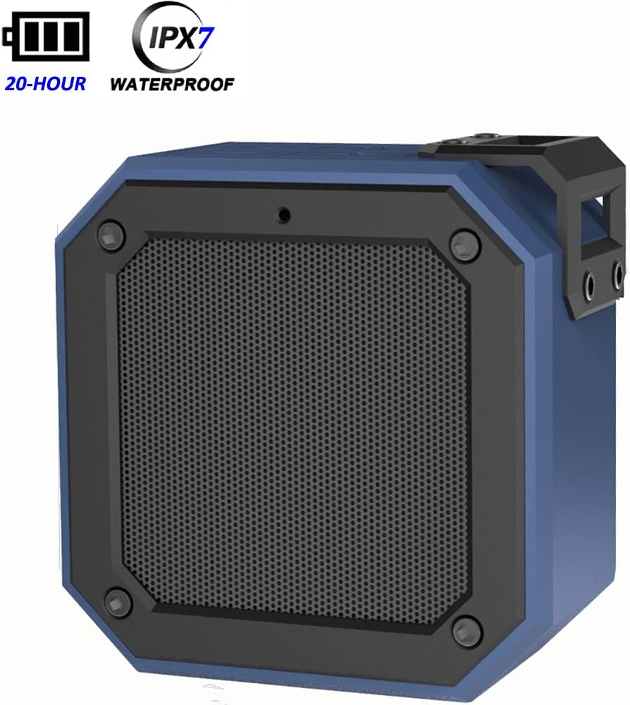 IPX7 Mini Outdoor Bluetooth Speaker,20Hour Playtime,Waterproof Stereo Subwoofer with HD Sound and Bass,2Speakers Pair