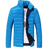 aliveGOT Men Winter Stand Collar Thick Coat Packable Down Quilted Puffer Jacket
