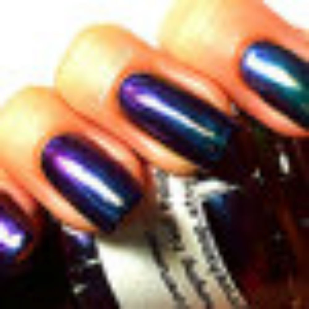 Nail Polish - Multichrome Chameleon Chrome - Blue/Purple/Green/Copper Color Shifting - ''Lagoon'' - Hand Blended - 0.5 oz Full Sized Bottle - FREE SHIPPING
