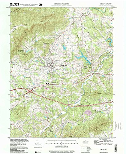 Crozet VA topo map, 1:24000 scale, 7.5 X 7.5 Minute, Historical, 1997, updated 1999, 26.7 x 21.9 IN - - Brookwood Village