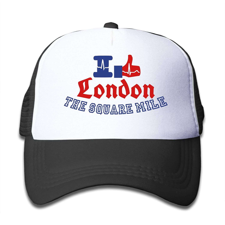 Gsyful Youth Children Kids Rock I Like London Baseball Cap Hat Snapback Black