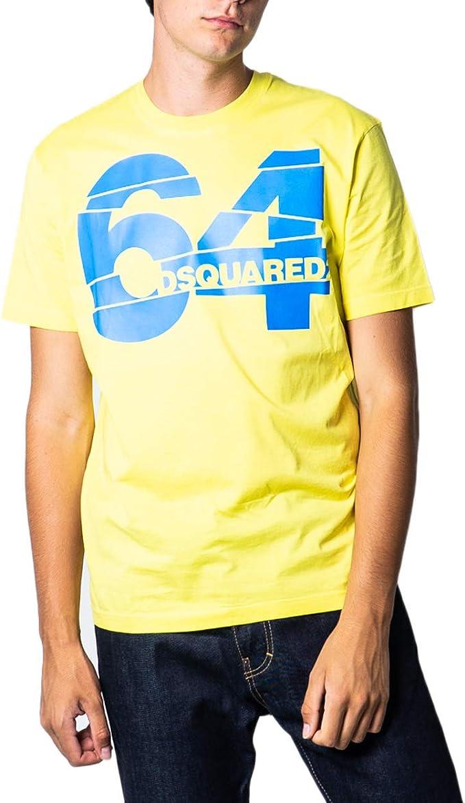 DSquared - Camiseta para hombre con impresión 64 s71gd0764: Amazon.es: Ropa y accesorios