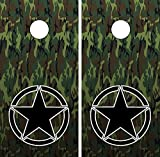 C212 Army Star Camo CORNHOLE WRAP WRAPS LAMINATED Board Boards Decal Set Decals Vinyl Sticker Stickers Bean Bag Game Vinyl Graphic Tint Image