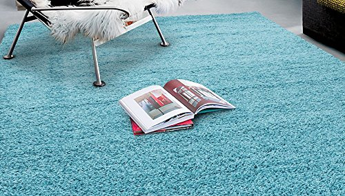 Sweet Home Stores Cozy Shag Collection Solid Shag Rug Contemporary Living & Bedroom Soft Shaggy Area Rug, 79