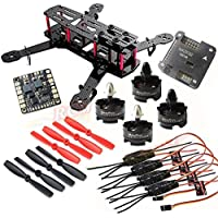 Hobbypower DIY 250mm Quadcopter Frame Kit+ HP T2204 2300KV Motor +Simonk 12A ESC +NAZE32 6DOF Flight Controller +5045 Propeller