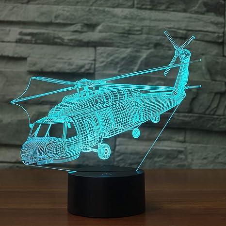 Control remoto Avión de aire Avión 3D LED Lámpara de mesa Ilusión ...