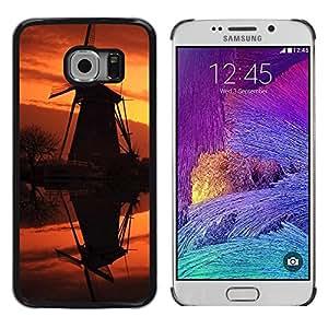 TopCaseStore / la caja del caucho duro de la cubierta de protección de la piel - Sunset Beautiful Nature 92 - Samsung Galaxy S6 EDGE SM-G925