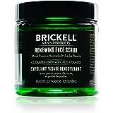 Brickell Men's Renewing Face Scrub for Men, Natural and Organic Deep Exfoliating Facial Scrub Formulated with Jojoba Beads, C